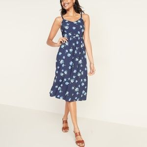 Old Navy Fit & Flare Cami Midi Dress Size Small